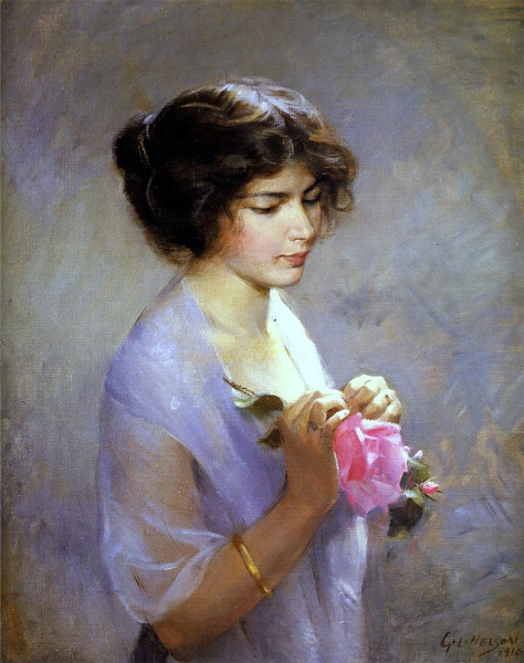 George Laurence Nelson, Young Lady with a Rose